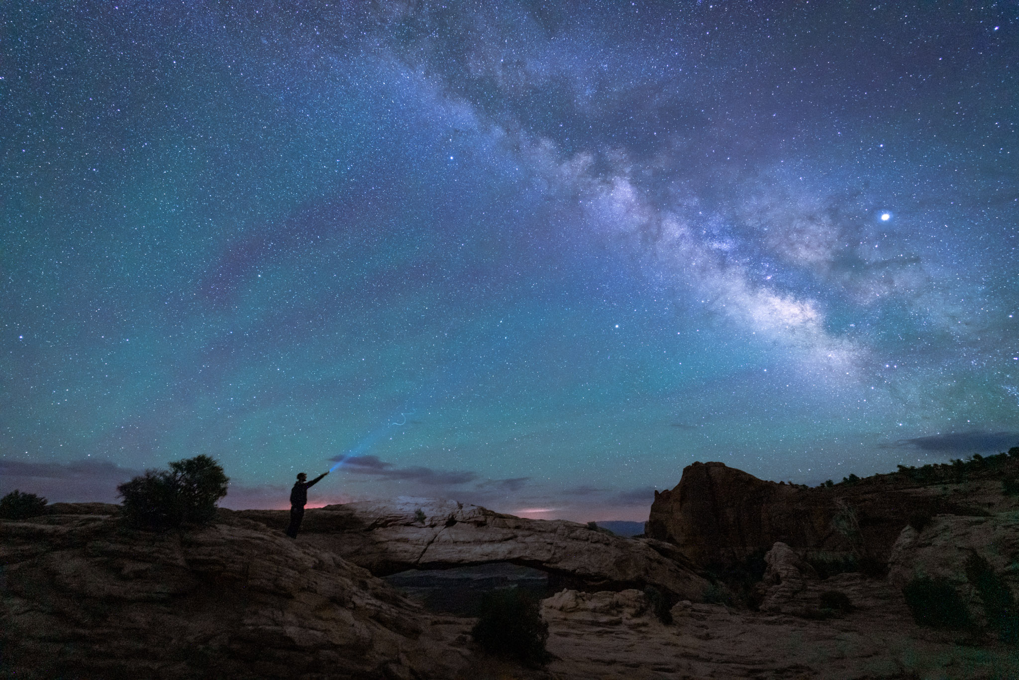 The milky way over the Canyonlands